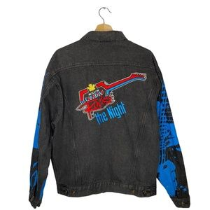 Molson Canadian Rocks Denim Jacket Vintage 90s XL